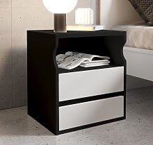 Comodino di design Tamy nero e bianco
