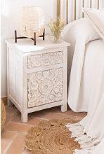 Comodino Dimma Wood Bianco Legno Sklum
