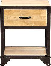 Comodino legno e metallo INDUSTRIA
