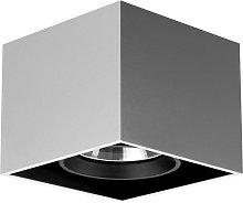 Compass Box - lampada da soffitto quadrata, allum.