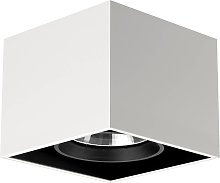 Compass Box - lampada da soffitto quadrata, bianco