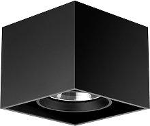 Compass Box - lampada da soffitto quadrata, nero