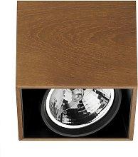 Compass Box - lampada da soffitto quadrata, teak
