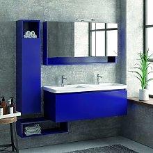 Composizione bagno sospesa 120cm mobile lavabo