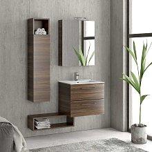 Composizione bagno sospesa 60cm: mobile, colonna