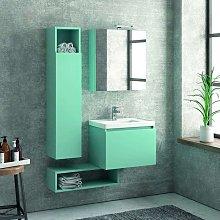 Composizione bagno sospesa 60cm mobile con lavabo