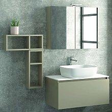 Composizione bagno sospesa 80cm mobile specchio