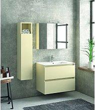 Composizione bagno sospesa 80cm: mobile, specchio