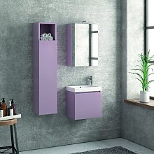 Composizione bagno sospesa mobile 45cm specchio