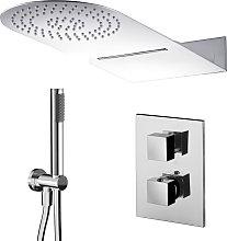 Composizione doccia con soffione 50x22 con cascata
