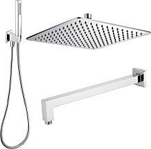 Composizione doccia con soffione quadrato in