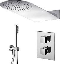 Composizione doccia con soffione tondo 50x22