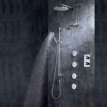 Composizione doccia Cosmo con soffione, doccetta e