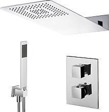 Composizione doccia soffione acciaio inox 50x22,