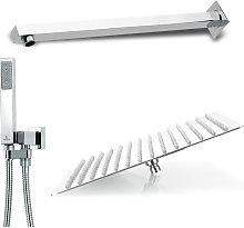 Composizione doccia squadrata con soffione 25X25
