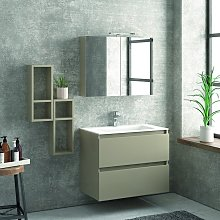Composizione mobile bagno sospeso 80cm: mobile, 2