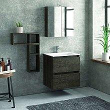 Composizione mobili bagno a sospeso 60cm: mobile,