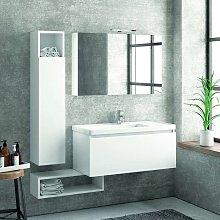 Composizione mobili bagno sospesa 100cm composta