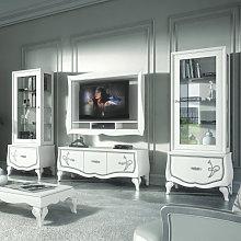 Composizione porta tv e 2 vetrine