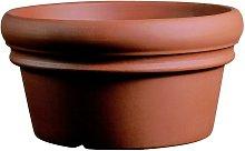 Conca Doppio Bordo in resina mezzo vaso 55 cm.