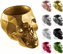 concrette Vaso per Fiori, Cemento, Gold, 24 cm
