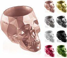 concrette Vaso per Fiori, Cemento, Oro Rosa, 24 cm