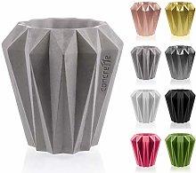 Concrette - Vaso per fiori in cemento, con rack di