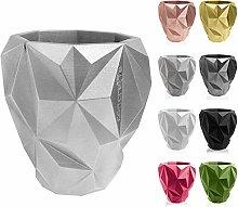 Concrette - Vaso per fiori in cemento, motivo