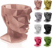 concrette Vaso per Fiori, Oro Rosa, 21x17x22 cm
