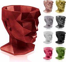 concrette Vaso per Fiori, Rosso Metallizzato,