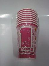 Conf.8 Bicchieri Primo Compleanno Rosa