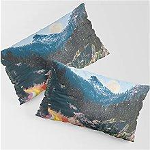 Confezione da 2 federe per cuscino rettangolare