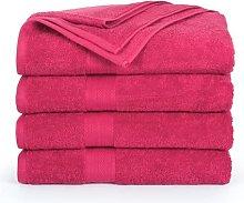 Confezione da 4 asciugamani da bagno (80 x 140 cm)