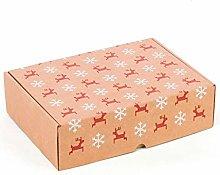 Confezione da 4 scatole con stampa natalizia,