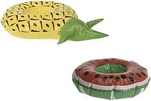 Confezione Portabicchieri flottanti modello ananas