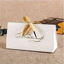 Confezione Regalo Sacchetto di Carta Kraft Bianco