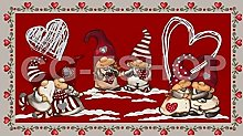 Confezioni Giuliana Tappeto Natale Poliammide