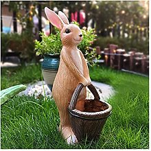 Coniglio con carrello Statua Garden Animals