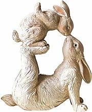 Coniglio Scultura Statua Garden Coniglio Modello