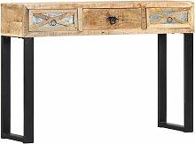 Consolle 110x30x76 cm in Legno Massello di Mango