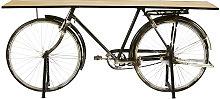 Consolle bicicletta industriale in legno di mango