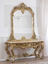Consolle e specchio Natalia stile Barocco foglia