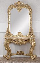 Consolle e specchio Noelia stile Barocco Francese