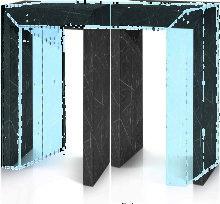 Consolle in legno nobilitato effetto marmo 90x45cm