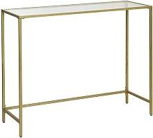 Consolle Tavolo da Ingresso Minimal Oro e Vetro