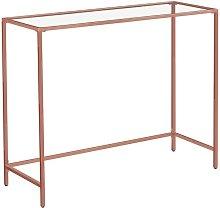 Consolle Tavolo da Ingresso Minimal Oro Rosa e