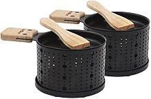 COOKUT LUMI-Raclette Set Individuale per 2, Legno