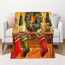 Coperta Calza di Natale rossa, Coperta di