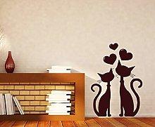 Coppia di gatti innamorati Adesivi da parete