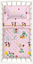 Copriletto con Paracolpi Primaverile Minnie&Mickey